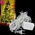 10M-100 white LED lights decorative Christmas party twinkle string EU Plug Led Fairy Light Holiday Christmas Wedding Lighting