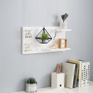 Image 2 - Estante de almacenamiento de plástico montado en la pared hogar Decoración de cocina inodoros estante de pared elegante Almacenamiento de exhibición Simple de moda