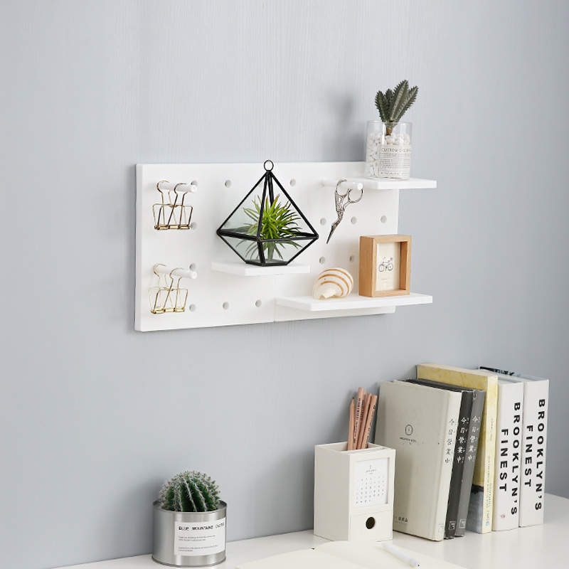Image 2 - Wall Mounted Plastic Storage Rack Home decora Kitchen Toilets Wall Shelf Elegant Rack Fashion Simple Display Storage-in Storage Shelves & Racks from Home & Garden