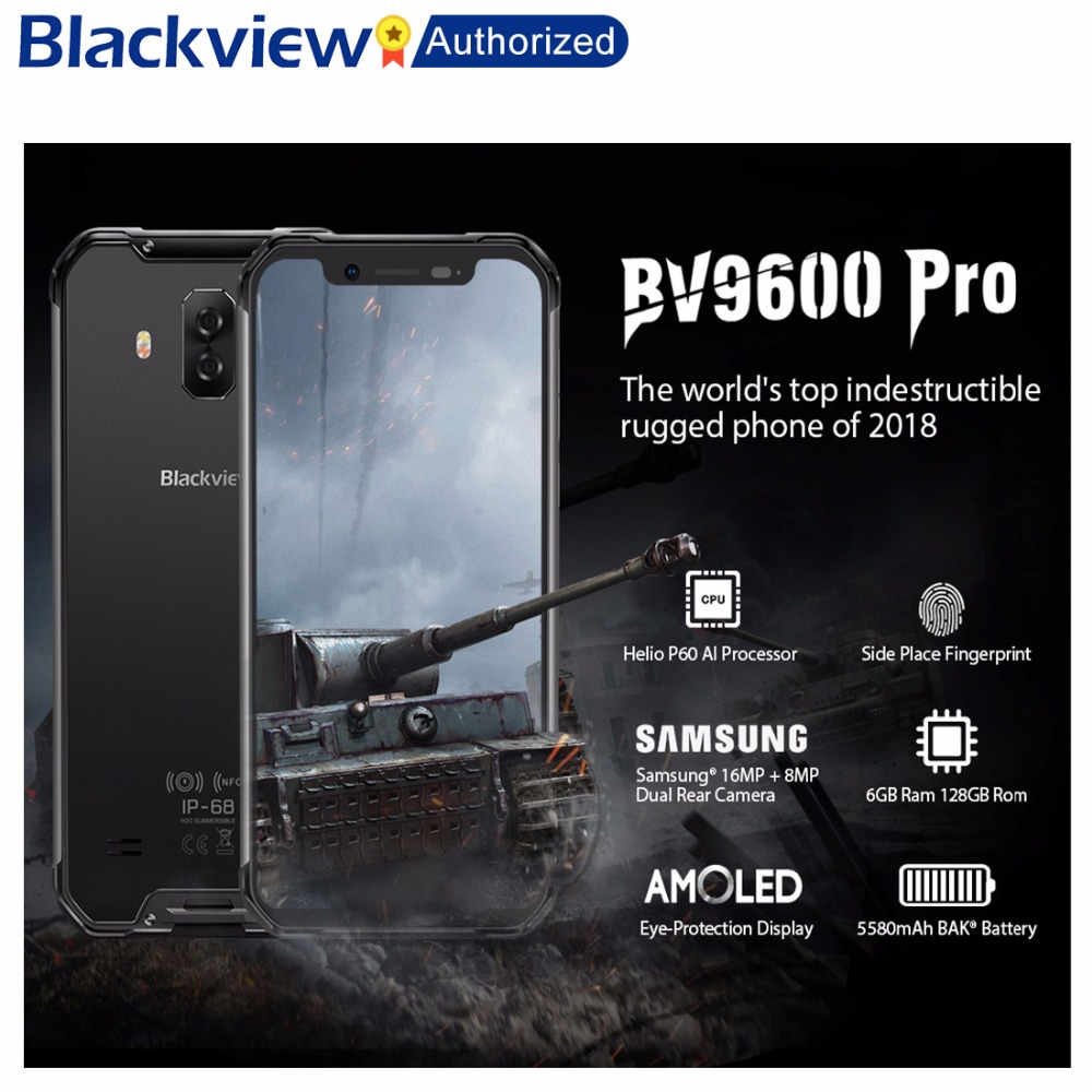 Blackview BV9600 Pro Robuste IP68 Wasserdichte Helio P60 Globale 4g Handy 6,21