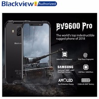 Blackview BV9600 Pro Rugged IP68 Waterproof Helio P60 Global 4G Mobile Phone 6.21inch Smartphone 6GB RAM 128GB MT6771 5580mAh