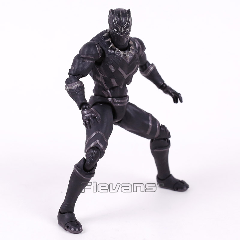 Captain America Civil War Black Panther PVC Action Figure Collectible Model Toy 16cm