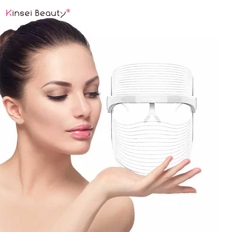3 couleur lumière photothérapie masque LED Photon thérapie masque Facial Machine faciale dispositif rajeunissement de la peau hydratant masque LED
