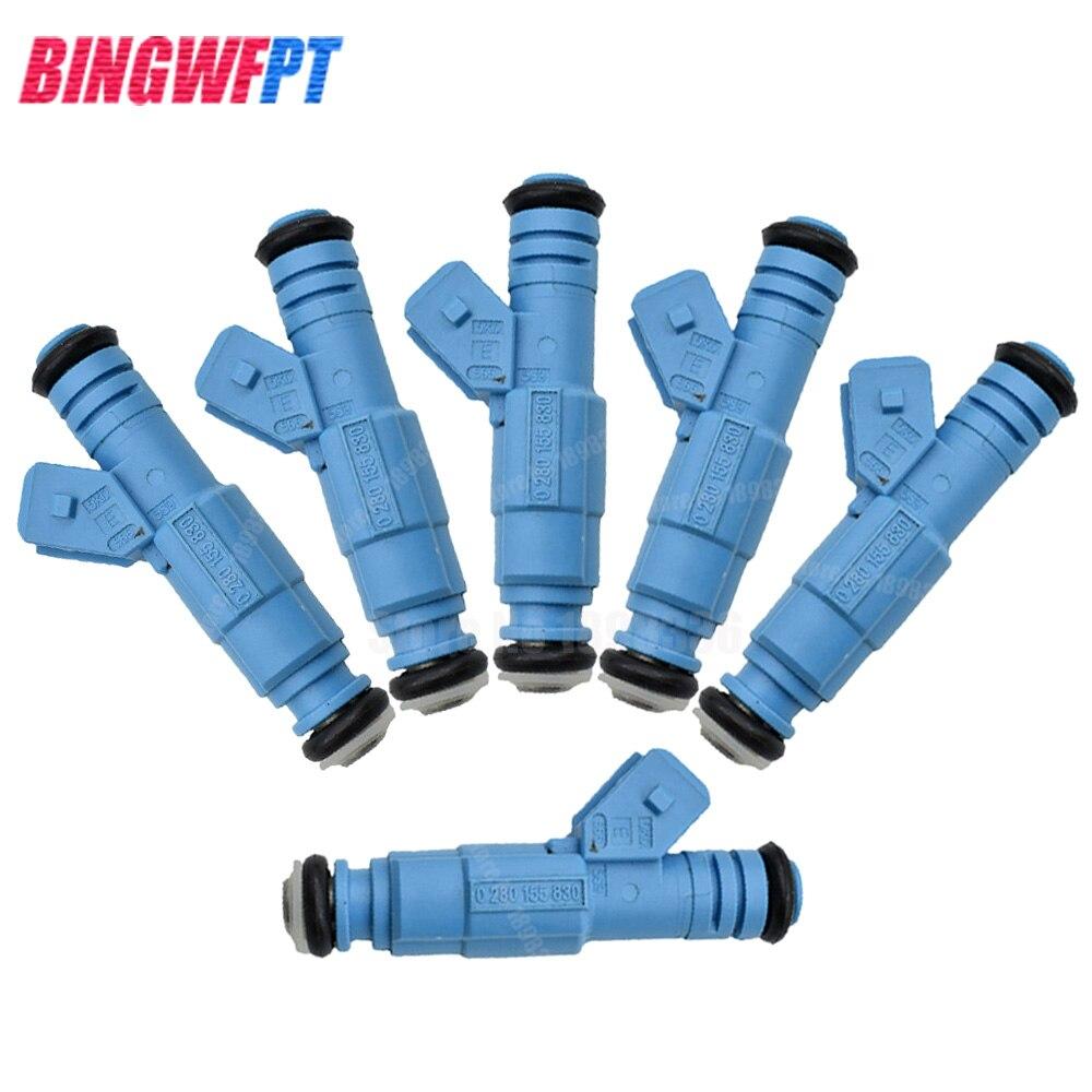6pcs lot Fuel Injectors For Volvo 2 3L 2 5L Turbo 0280155830 91860600 91860601 852 12166