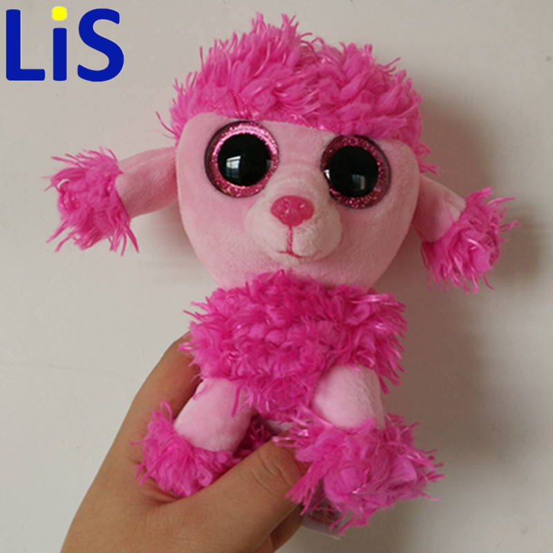 "Lis Ty Beanie Boos PATSY Pink Poodle Dog 6"" Big Eyes Plush Toy Doll Purple Panda Baby Kids Gift"