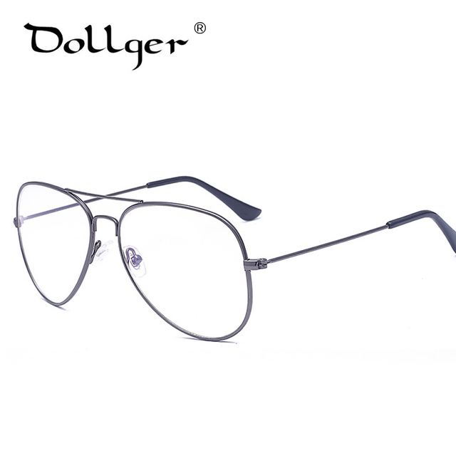 Dollger Eyeglasses Frames Women Men Pilot Glasses Frame Brand Designer  Women Optics Classic Clear Lens Glasses frame s1224 fc4deecf1fb
