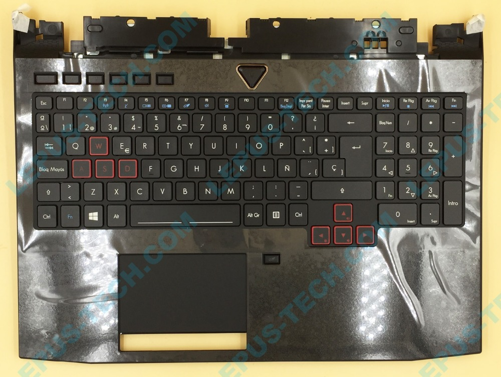 Brand New Spain SP LA backlight keyboard for ACER Predator 15 G9-591 G9-592 G9-593 with palmrest backlit touchpad keyboard new predator cooling fanor for acer predator 15 17 17x g5 g9 592 g9 593 g9 g9 791 79xv g9 792 g9 793 cd rom cooling fan