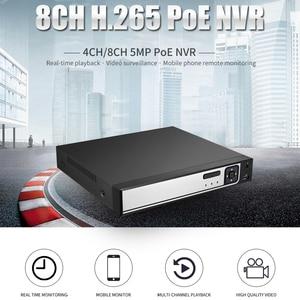 Image 3 - BESDER H.265 CCTV PoE NVR ماكس 4K 4CH 5MP 8CH 4MP IEE802.3af 48 فولت PoE HI3798M CCTV مسجل فيديو لكاميرا H.265 H.264 IP PoE