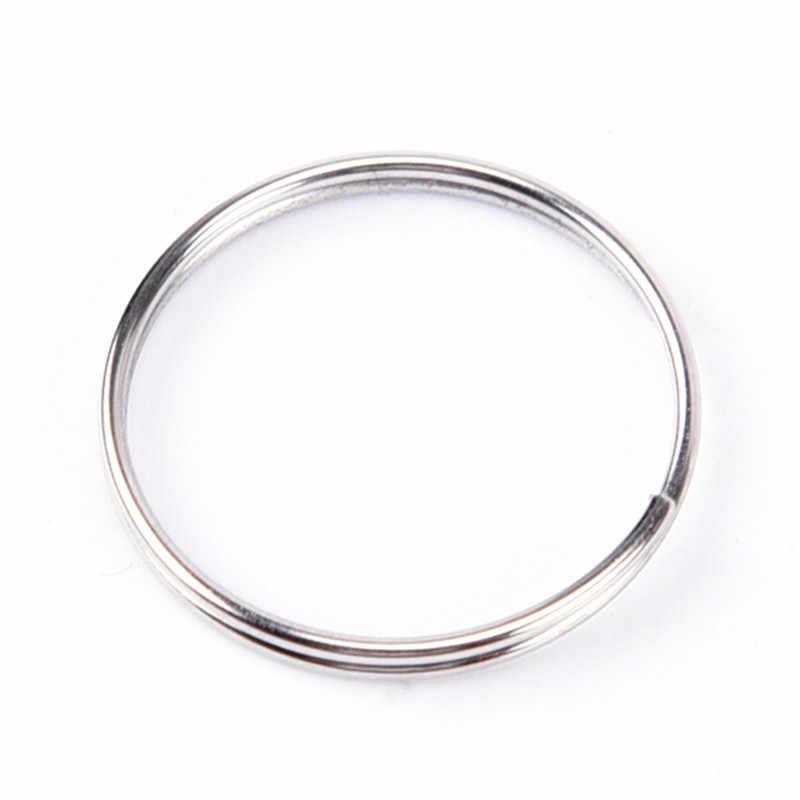 10 pçs novo metal porta-chaves anéis rachados chaveiro keyfob acessórios 25mm