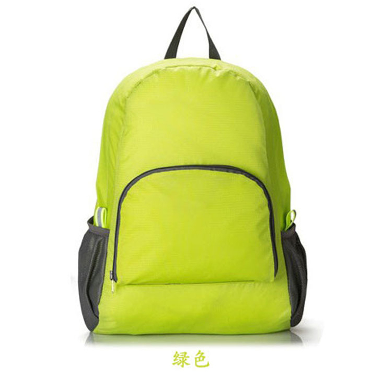 Ultralight Foldable Canvas Backpacks Student School Bags Travel Zipper Laptop Rucksack Bag