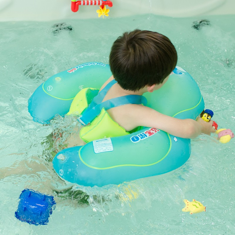 Swimming Pool & Accessories 1pcs Neck Float Swimming Newborn Baby Swimming Neck Ring With Pump Gift Mattress Cartoon Pool Swim Ring 0-2 Years Old Baby