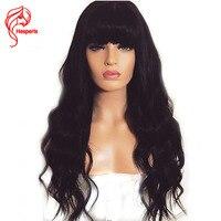 Hesperis 150% плотность свободная волна 13x6 Синтетические волосы на кружеве человеческих волос парики с треском перуанские волосы Реми Синтетиче