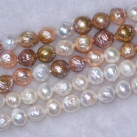 loose beadswhite multicolor freshwater pearl baroque rebron keshi 10 12mm 14inch for DIY jewelry making FPPJ wholesale