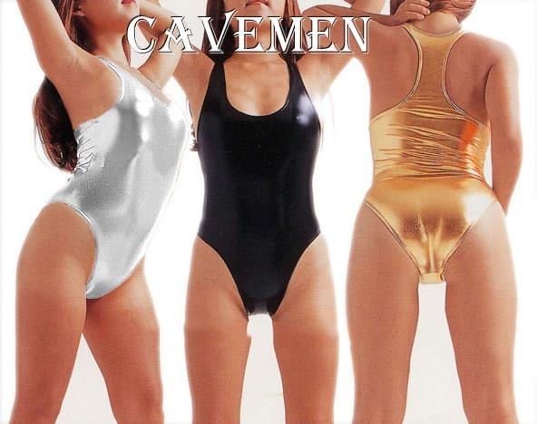 Golden silvery Leatherwear* 1479 *Ladies Thongs G string Underwear Panties Briefs T back Swimsuit Bikini Free Shipping