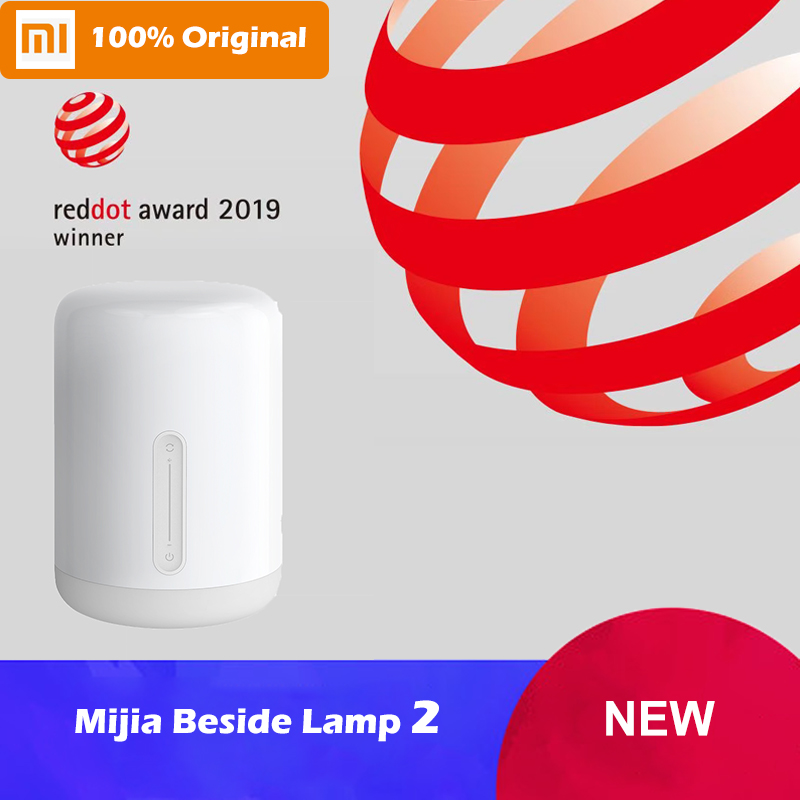 Xiaomi Mijia Bedside Lamp 2 WiFi Bluetooth LED Smart Night Light Works with Apple HomeKit Siri