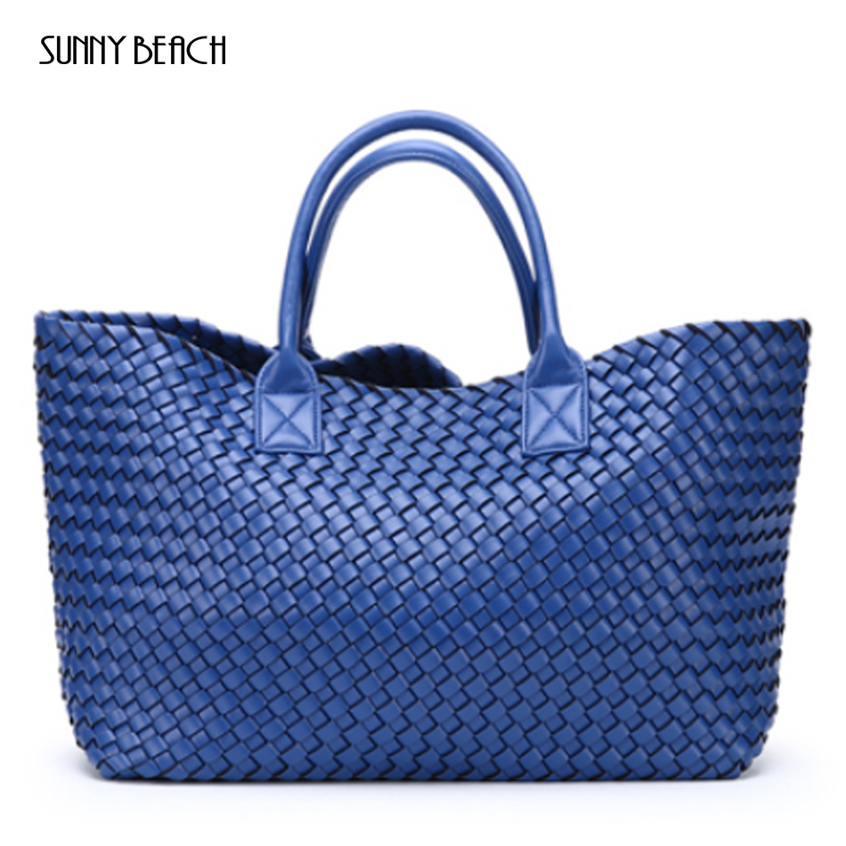 NEW Luxurious Woven handbag bales new tide hand shoulder large capacity brand Casual Tote bag Top Handle Bags shoulder bags-in Top-Handle Bags from Luggage & Bags    1