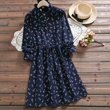 Autumn winter animal print vintage dress new fashion long sleeve warm thick cute sweet dress mori girl vestidos