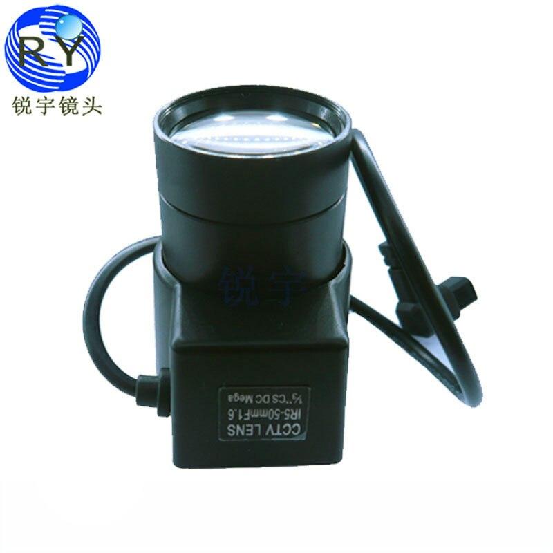 """1/3 inch"""" F1.6 5-50mm Mega Pixels Auto Iris Vari-focal CCTV lens for HD IP/SDI cameras"""""""