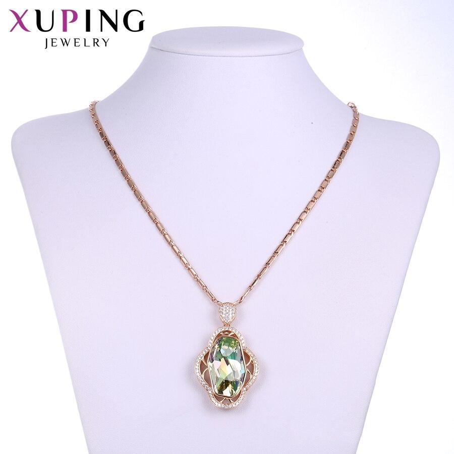 Xuping mode colliers bijoux cristaux élégants de Swarovski Design populaire pour les femmes cadeaux de noël S141.1-431