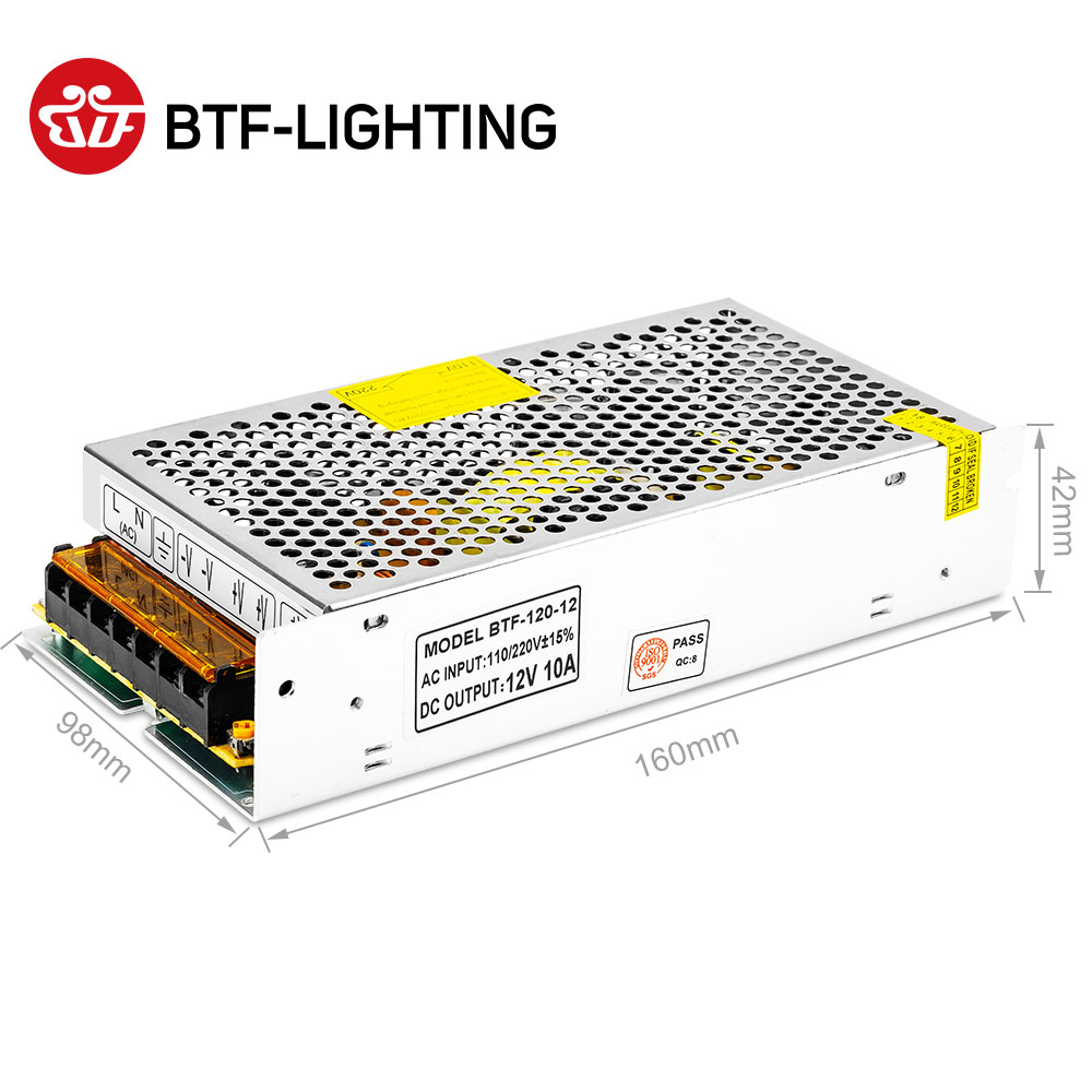 Image 5 - 12V Switch LED Power Supply Transformer 1A/3A/5A/6.5A/8.5A/10A/12.5A/15A/16.5A/20A/25A/30A/40A/50A/60A-in Lighting Transformers from Lights & Lighting