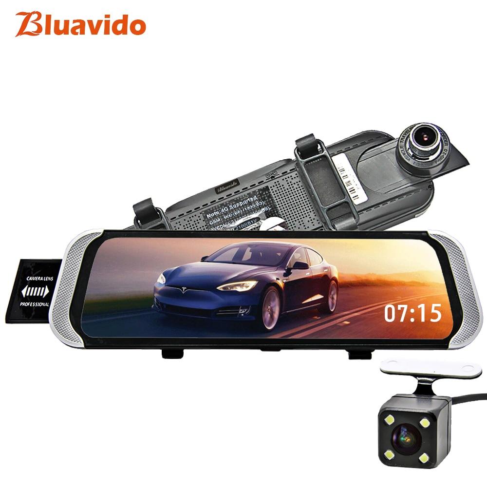 Bluavido 10 4 г Android DVR зеркало автомобиля камера gps навигации Full HD 1080 P зеркало заднего вида видео регистраторы телефон Удаленный мониторы