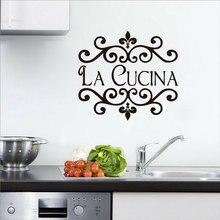 Персонализированные виниловые наклейки с именами, открытые кухонные наклейки с индивидуальным именем для украшения дома, настенные наклейки CF01