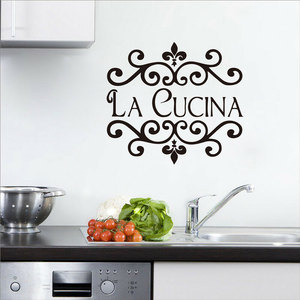 Image 1 - Personalized name vinyl stickers open kitchen custom name DIY home decoration wall stickers CF01