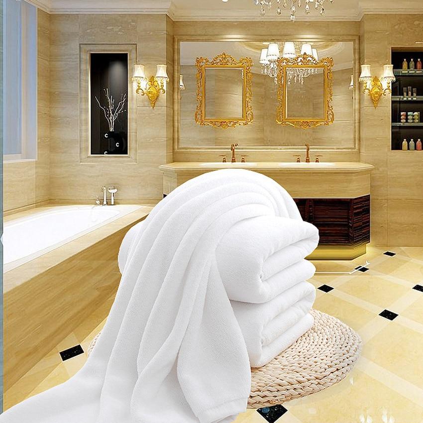 White Large Bath Shower Towel Cotton Thick Towels Home Bathroom Hotel Adults Kids Badhanddoek Toalha de
