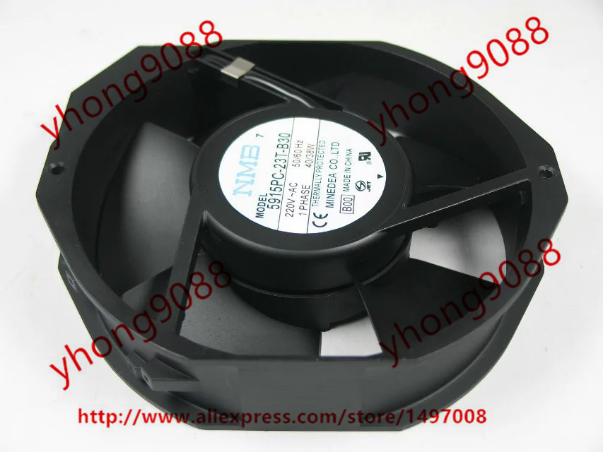 NMB-MAT 5915PC-23T-B30 B00 AC 230V 35W 172x150x38mm Server Round  fan new 17038 double ball 220v ac fan 5915pc 23t b30 35w for nmb mat7 170 170 38mm