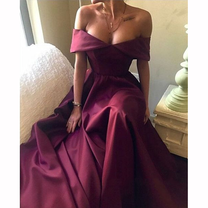 2018 African Sexy Cap Sleeve Backless A-line Bridesmaid Dresses Simple Burgundy Long Party Gowns Prom Dress Custom Made