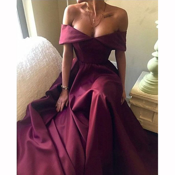 African Sexy Cap Sleeve Backless A-line Bridesmaid Dresses Simple Burgundy Long Party Gowns Prom Dress Custom Made