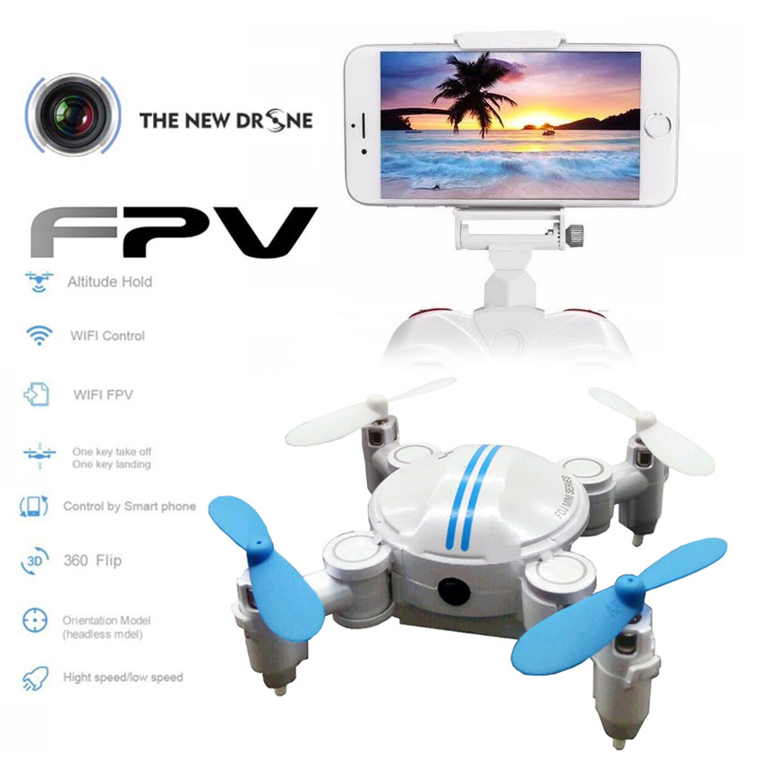 WiFi FPV Quadcopter Mini Drone Foldable Drone Pocket RC Drones with Camera Altitude Hold Headless fpv rc вертолет drone с камерой quadcopter drone quadcopter drone пульт дистанционного управления игрушки quadcopter