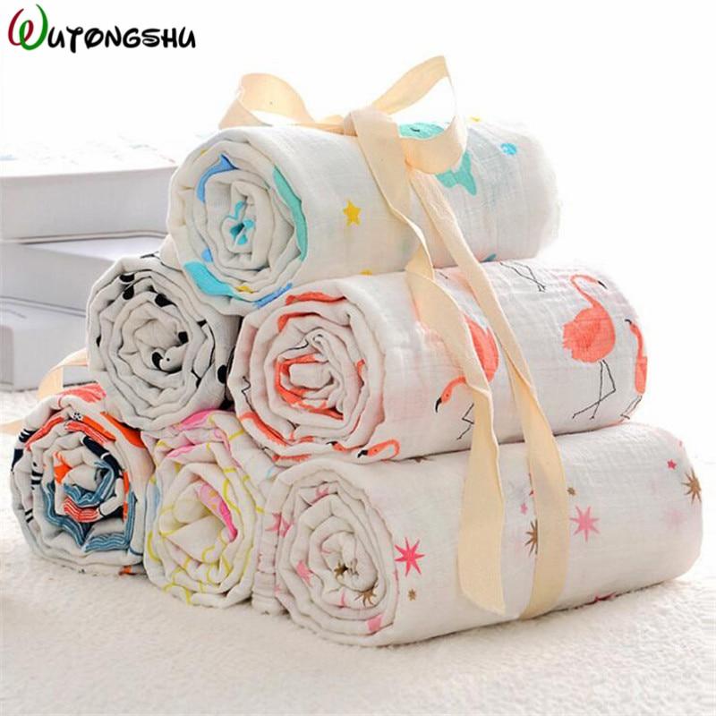 Baby Blanket 100% Soft Cotton Newborn Muslin Swaddle Bath Baby Deken Infant Wrap Sleepsack Stroller Cover For Babies Manta Bebe