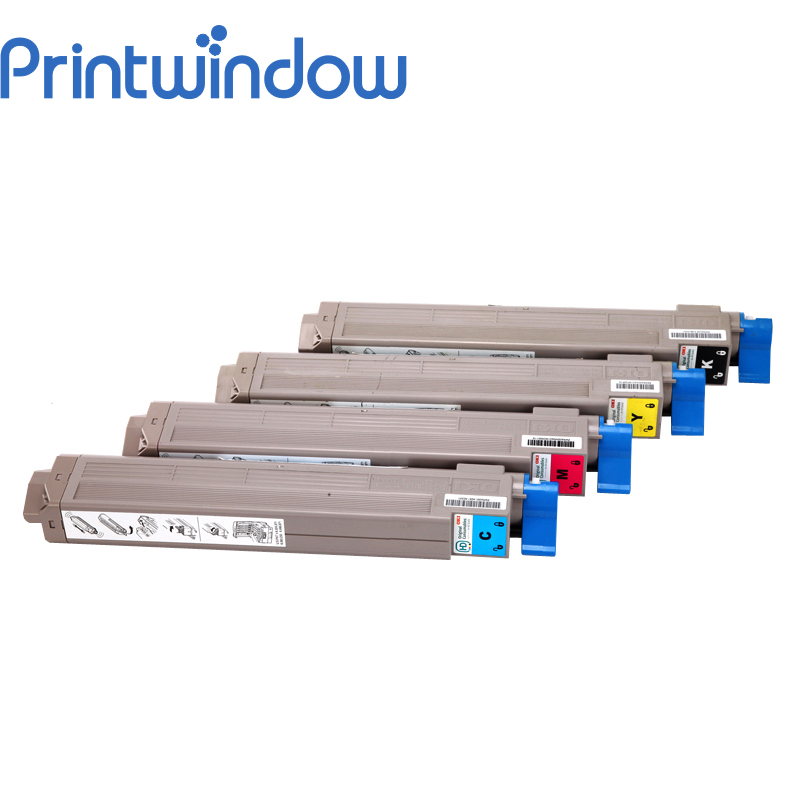 Printwindow Compatible Toner Cartridge for OKI C9600/9650/9800/9850 free shipping 4kg lot c m b y compatible oki c9600 9650 9800 9850 color toner powder