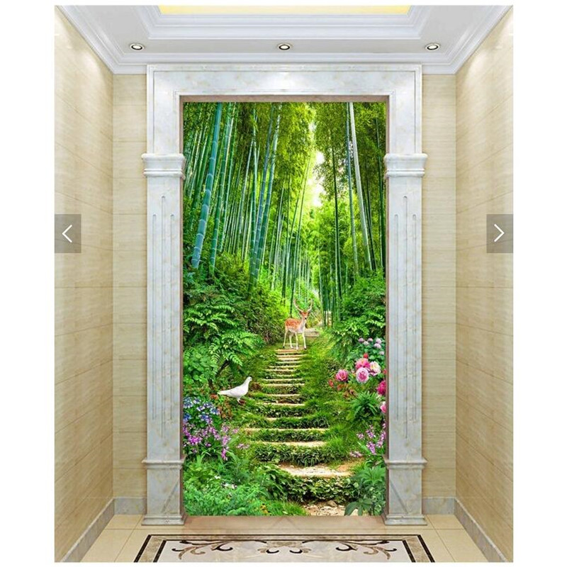 Dirt Cheap Home Decor: Home Decor Wall Paper 3d Art Mural HD Forest Landscape