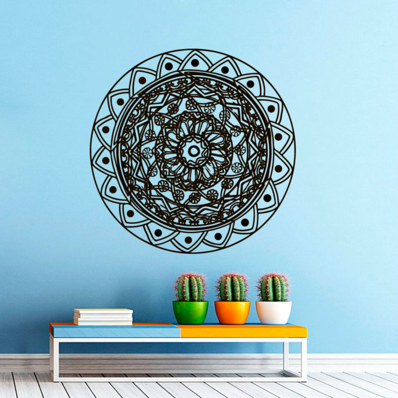 Hot Sale Art Murals Mandala Flowers Wall Sticker Indian Religious Pattern Home Decor For Living Room