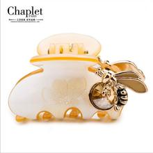 Chaplet 2016 New High Quality Bee Rhinestone Hair Claws Girls Hair Accessories Hair Claw Clip Fashion Head Jewelry Free Shipping
