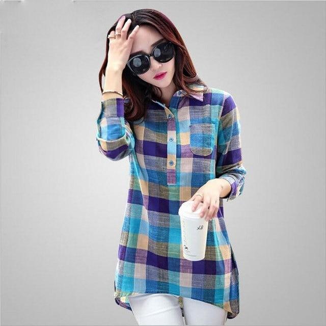 e4bf4c22a72 Women Shirt 2017 Korean Style New Fashion Long Sleeve Girls Shirt Casual  Cotton Linen Blouses Ladies