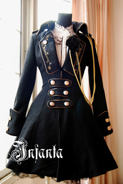 Infanta . winter rose lolita medal embroidered overcoat