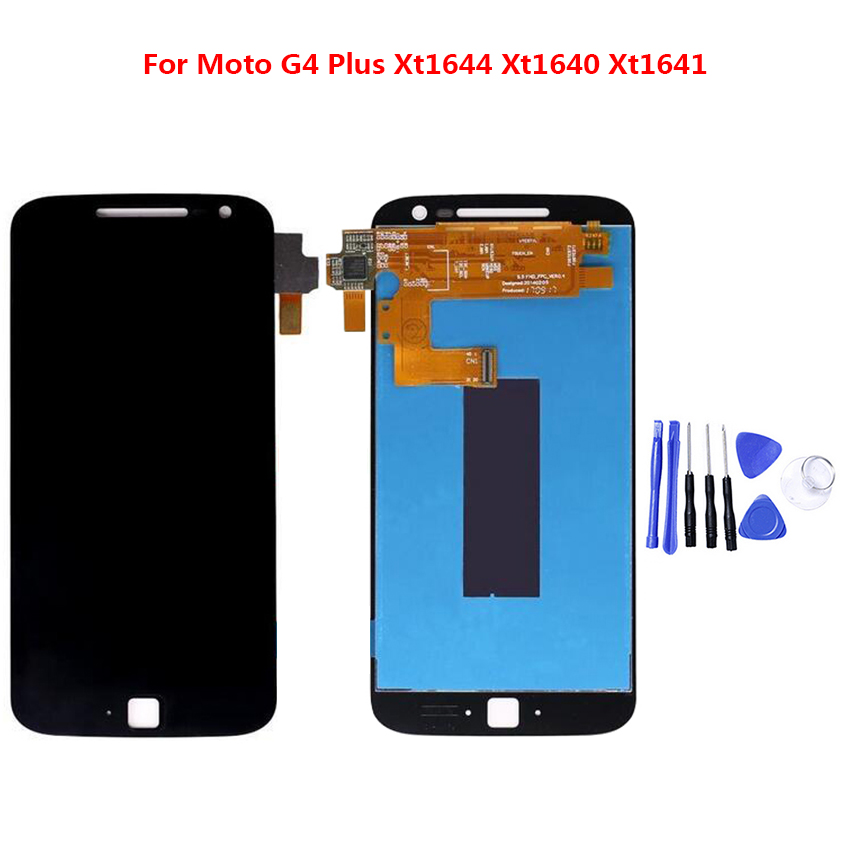 LCD Display Digitizer For Moto G4 Plus XT1640 XT1644 Touch Screen Panel Assembly Mobile Phone without Frame+Tool