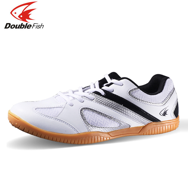 Double Fish High Bounce Cushioning Men Women Non slip Breathable Table Tennis Badminton Shoes Outdoor Sports