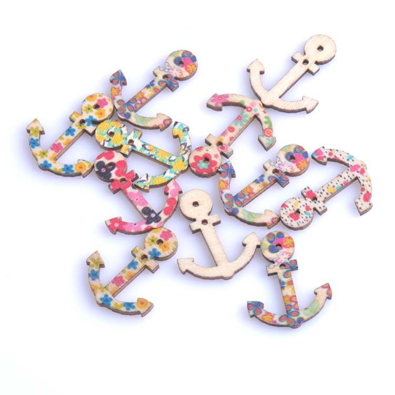 50pcs 34x27mm Mixed Rudder Anchor wooden Scrapbooking Carft for <font><b>Nautical</b></font> <font><b>decoration</b></font> Diy MT0054