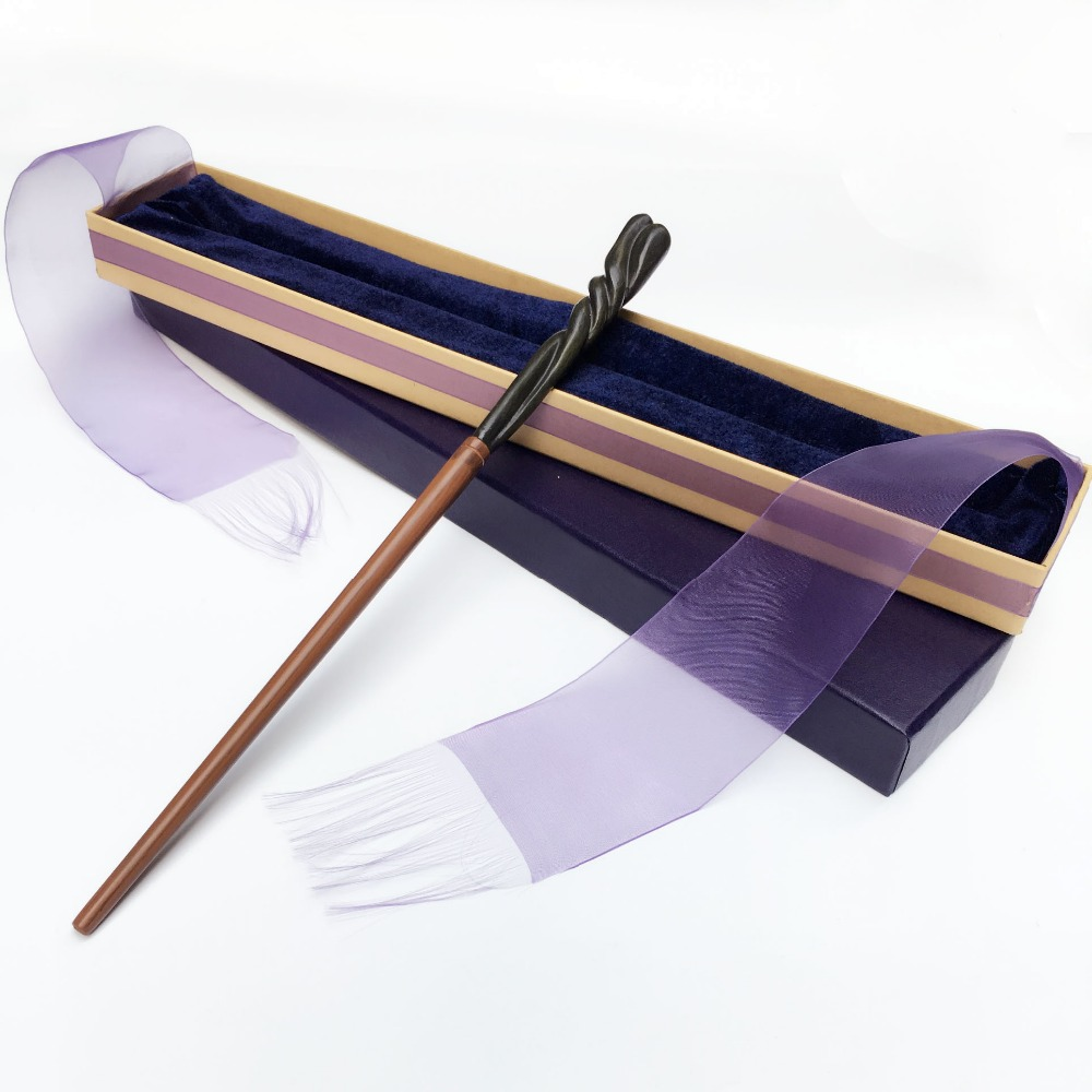 2017 Metal/Iron Core Nevil Magic Wand/ Harry Moive Magical Wand/ Elegant Ribbon Gift Box Packing