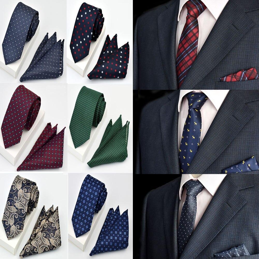 Mens Fashion Paisley Checks Flower 6CM Necktie Handkerchief Pocket Square Set RSTIE0063