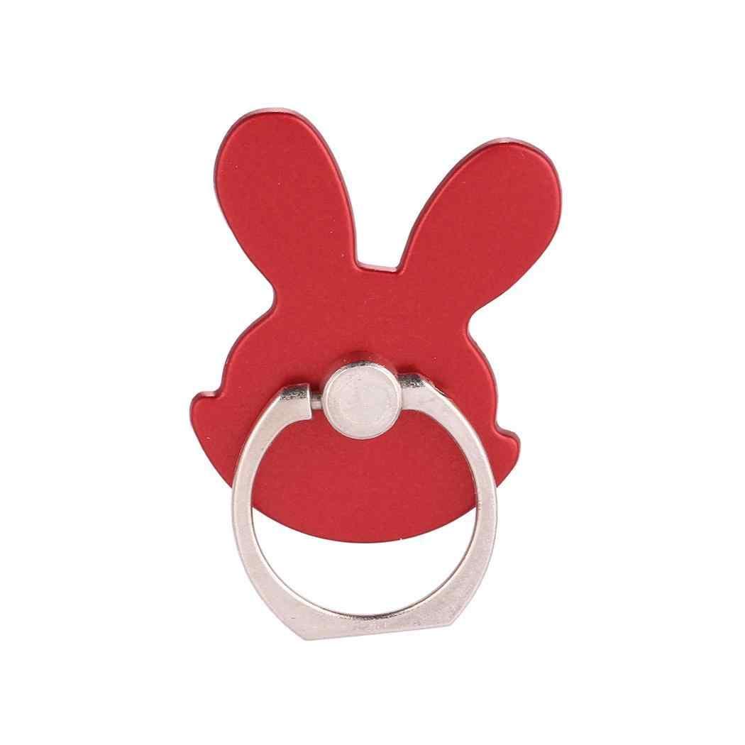 ผู้หญิงกระต่ายรูปร่างโทรศัพท์ผู้ถือโทรศัพท์โลหะสีดำ, ทอง, สีแดง, สีแดงกุหลาบ, เงินแหวนหัวเข็มขัด