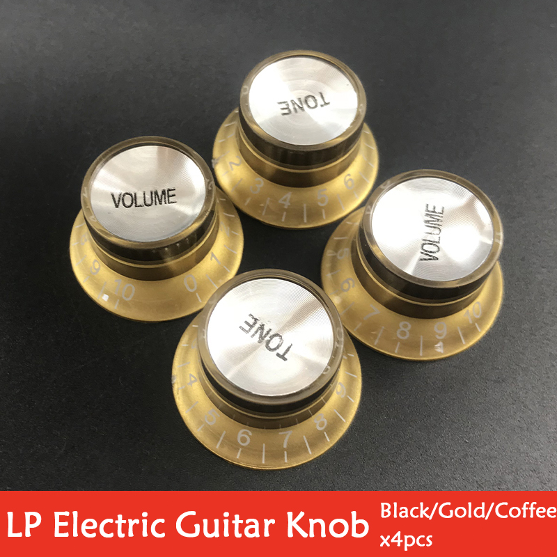 4PCS 2 Volume 2 Tone Gold Guitar Knob For LP/SG Style Electric Guitar Musical Instrument Tackle Tool Accessory