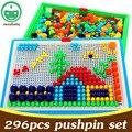 296 PCS Set Crianças Brinquedos Educativos Plasic Jigsaw Puzzles Crianças Brinquedos DIY Jardim de Infância Ensinando Adereços Brinquedos Interativos XQ11