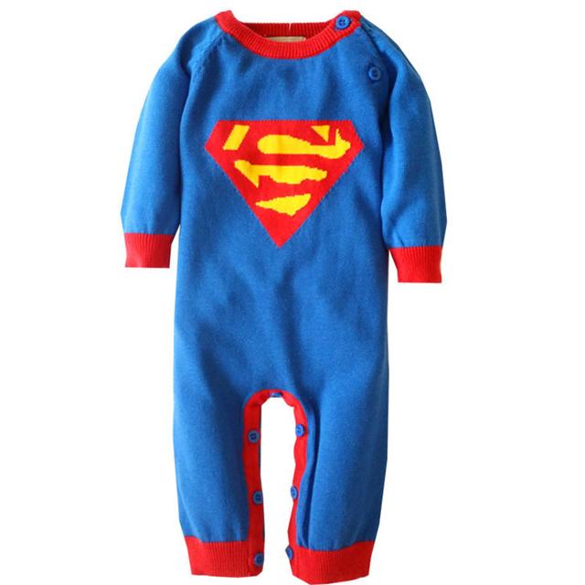 0-18 M mono Infantil de Navidad mamelucos del bebé de punto de algodón de manga larga onesie de halloween traje recién nacido niño niño niñas