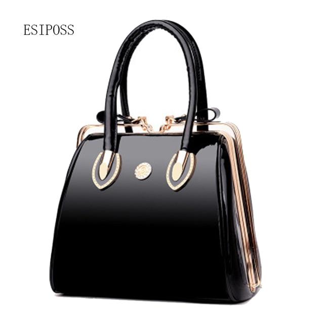 079db50cc4 Patent leather handbag 2017 new European fashion lock buckle female leather  bag diamond small brigh bag women totes bag handbags