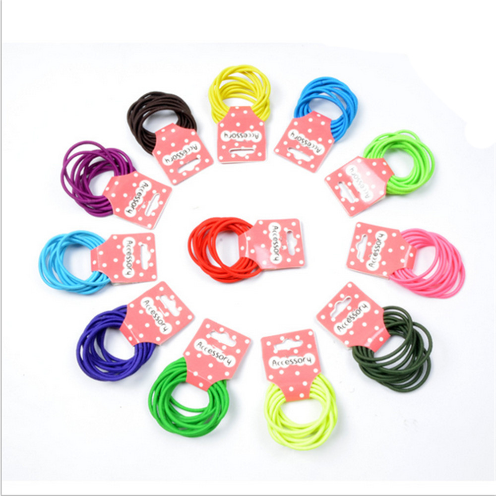 New 10pcs/lot Baby Girl Kids Tiny Hair Accessary Hair Bands Elastic Ties Ponytail Holder Children Rubber